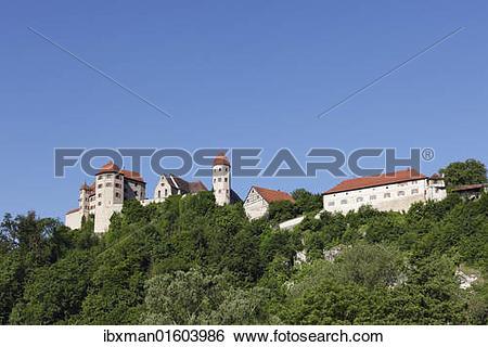 "Stock Images of ""Burg Harburg castle, Harburg, Schwaben, Bavaria."