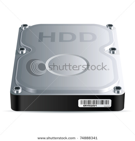 of an Internal Computer Hard Drive with HDD Stamped on It in This.