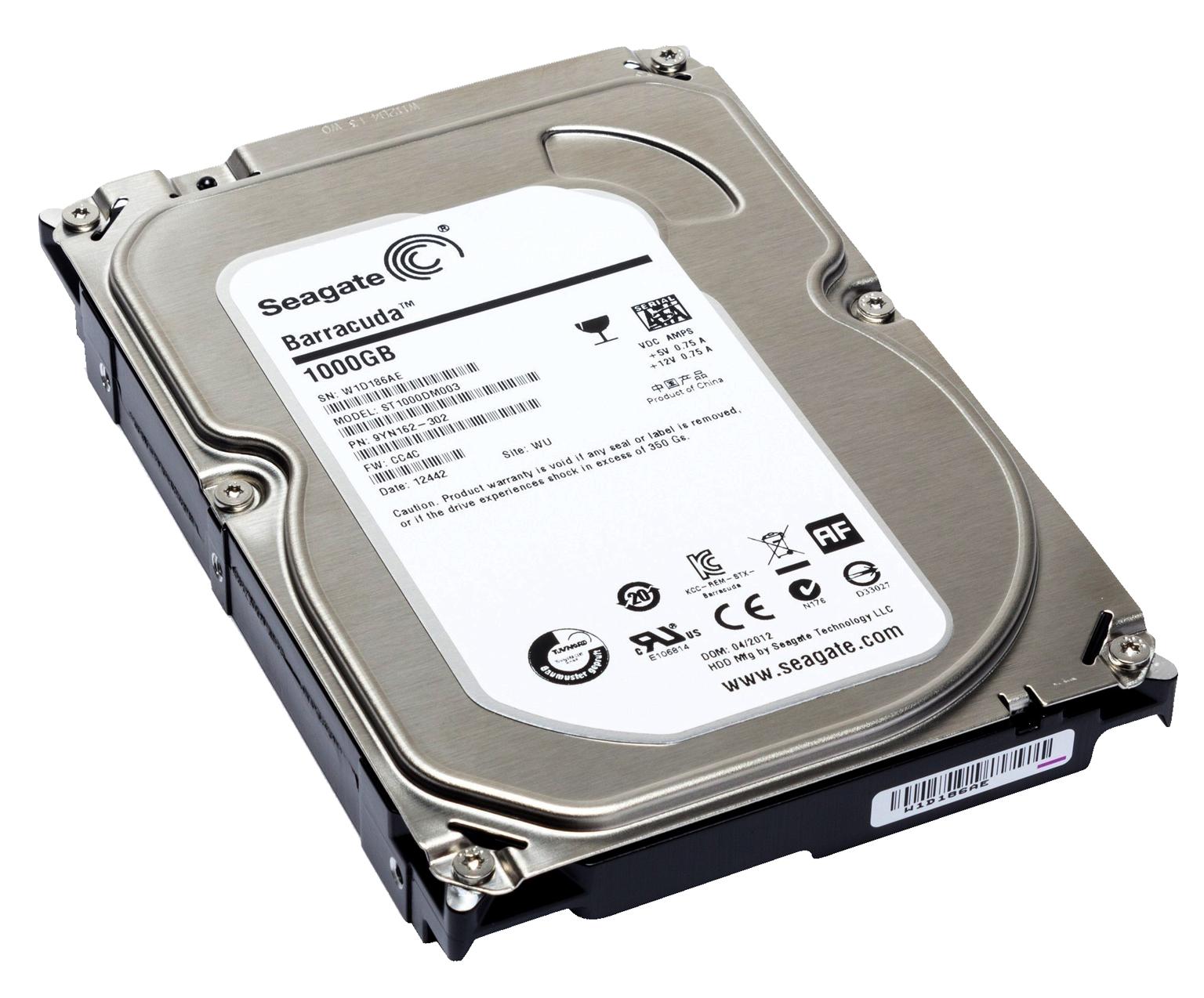 Computer Hard Disk Drive PNG Image.
