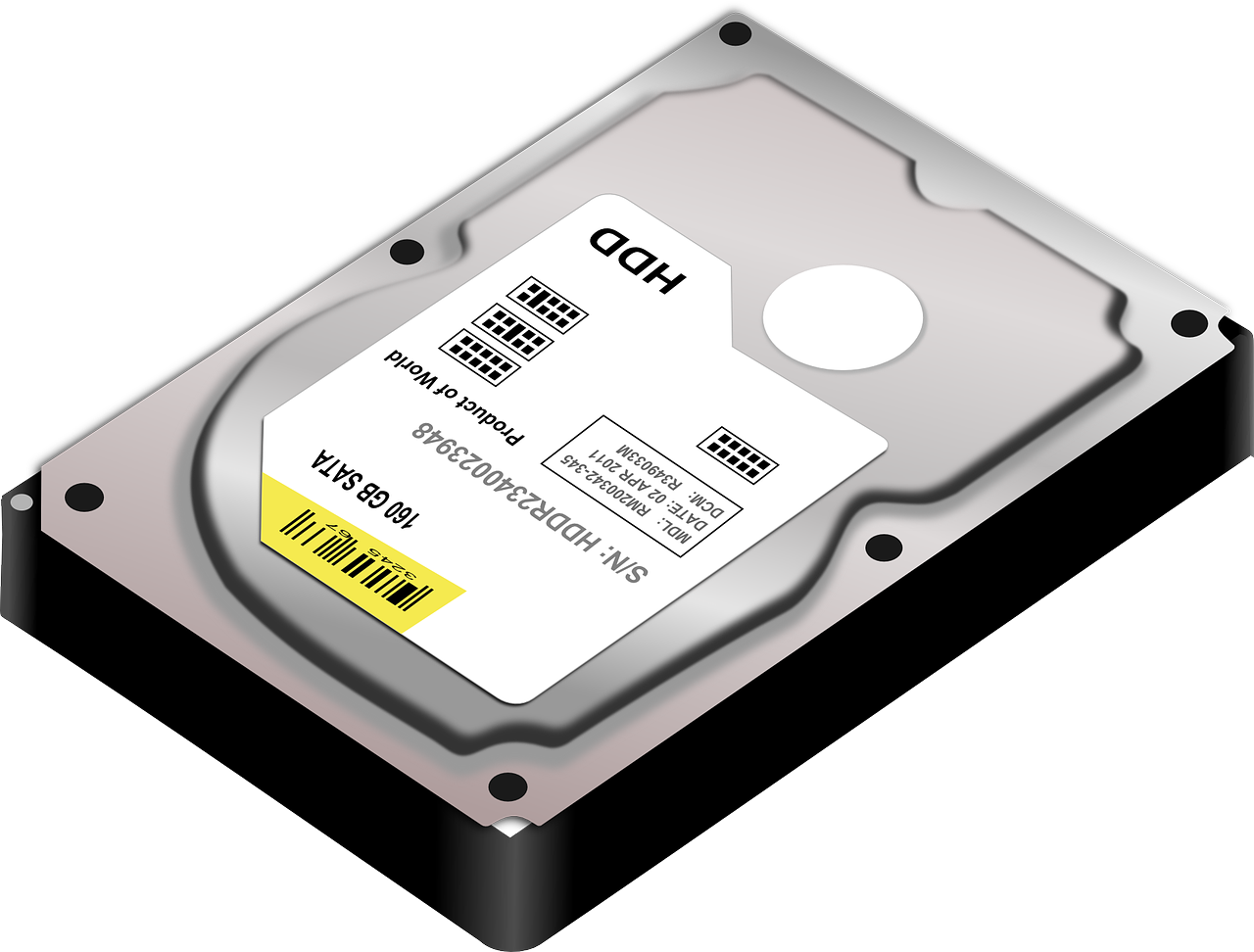 Hdd Hard Disk Drive Disk PNG.