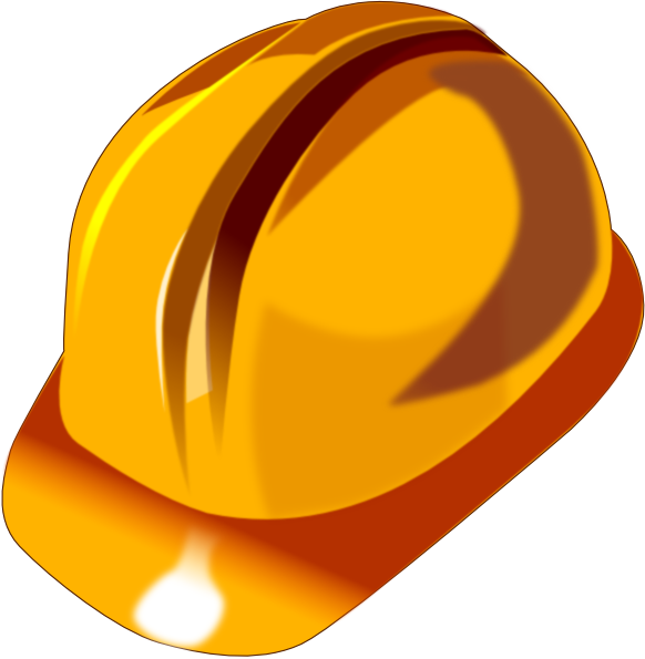 Man In Hard Hat Clipart.