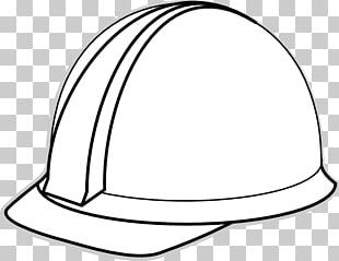Hard hat Black and white , Construction Hat s, hard hat.