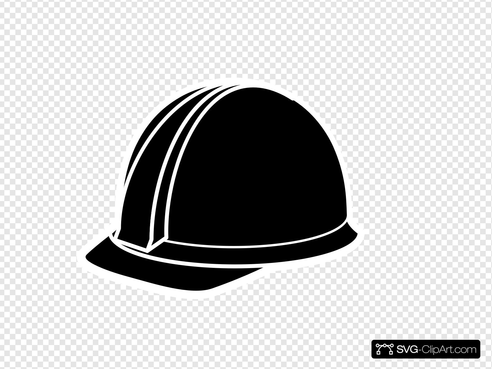 Black Hard Hat Clip art, Icon and SVG.
