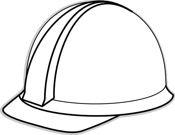 Hard hat Black and white Clip art.