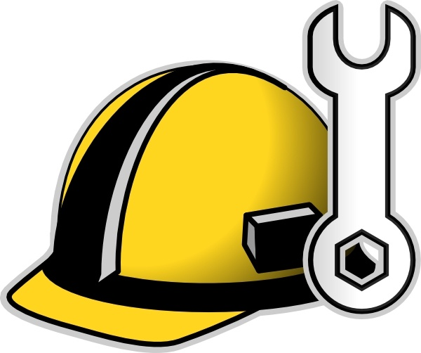 Hard Hat clip art Free vector in Open office drawing svg.