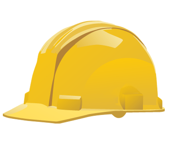Yellow hard hat transparent background.