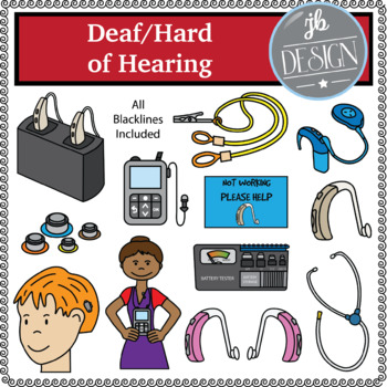 Deaf/Hard of Hearing (JB Design Clip Art for Personal or Commercial Use).
