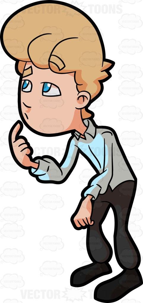 A Man Having A Hard Time Thinking About An Idea Cartoon Clipart.