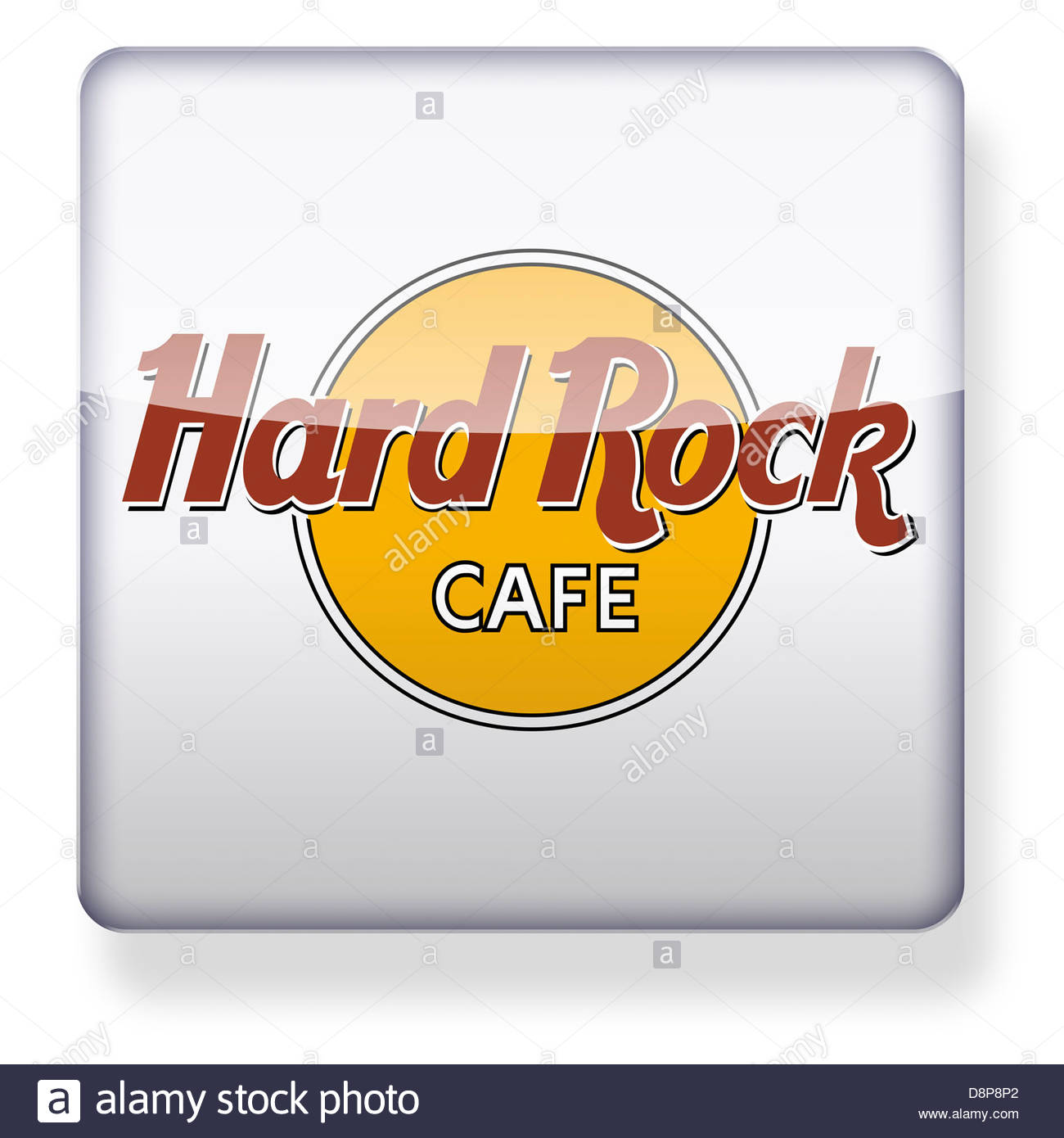Hard Rock Cafe Logo As An App Icon. Clipping Path Included Stock.