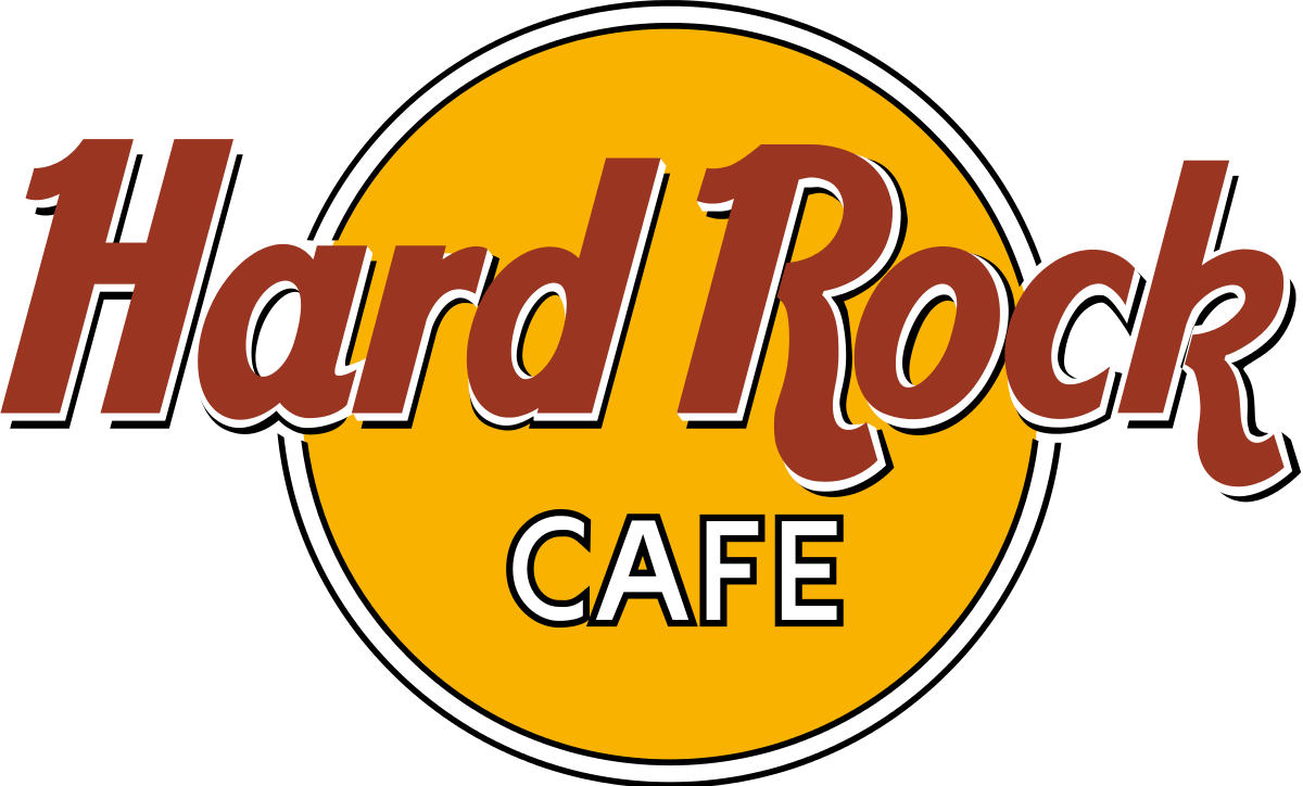 Hard Rock Café Logo transparent PNG.