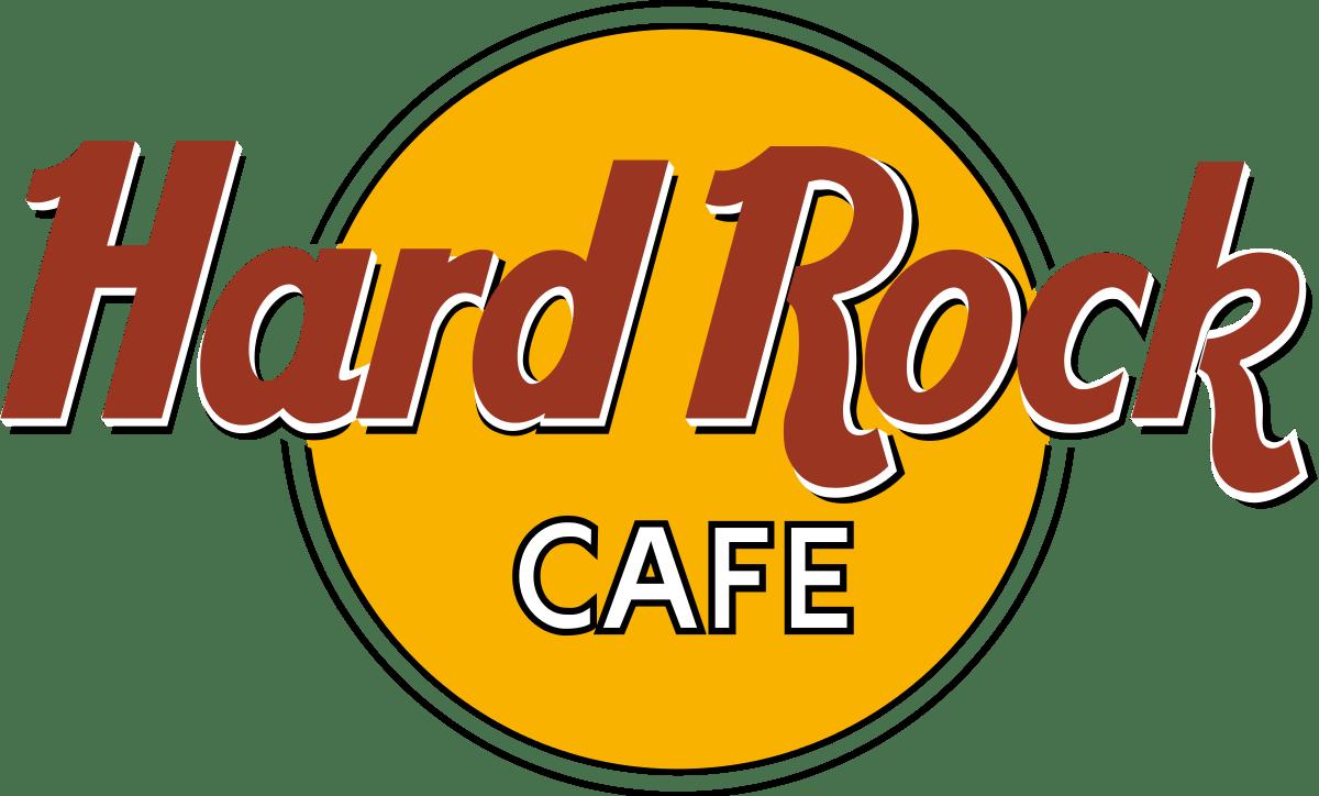 Hard Rock Café Logo transparent PNG.