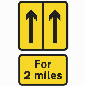 Road Works Signs.