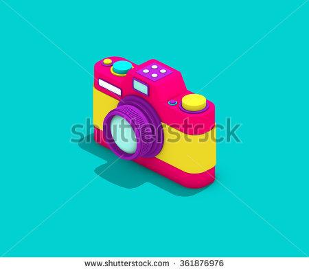 Toy Camera Color Stock Photos, Royalty.
