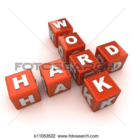 Clip Art of Hard Work Concept k11053522.