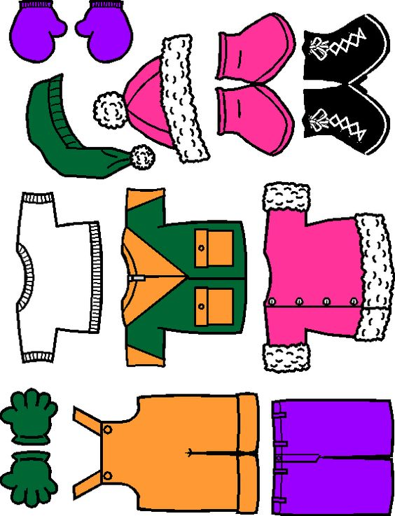 Printable paper dolls to teach appropriate warm/ cold weather.