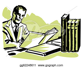 Hard Working Person Clipart.