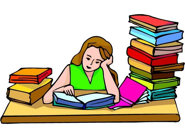 Hard working student clipart.
