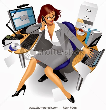 55746 Woman free clipart.