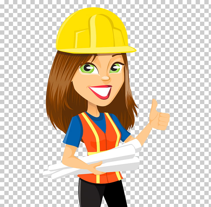 Engineering Woman , engineer PNG clipart.