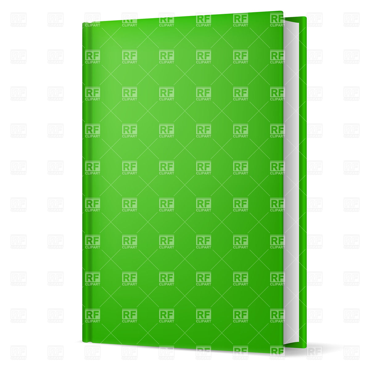 Green hardback book with empty cover Vector Image #20861.