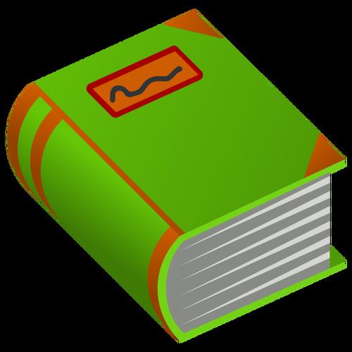 Hardback book vector image.
