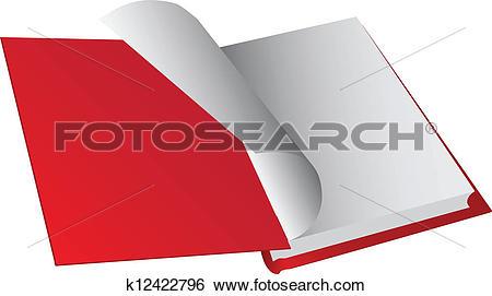 Clip Art of Opening hardback k12422796.