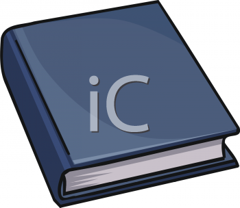 Royalty Free Clipart Image: Hardcover Book.