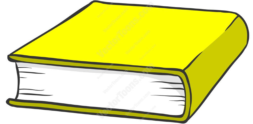 Yellow Hardcover Book Cartoon Clipart.