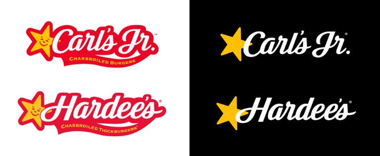 Carl\'s Jr and Hardee\'s logo.