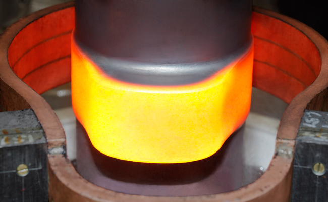 Hardening with induction heating.