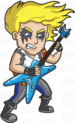 hard rock Cartoon Clipart.