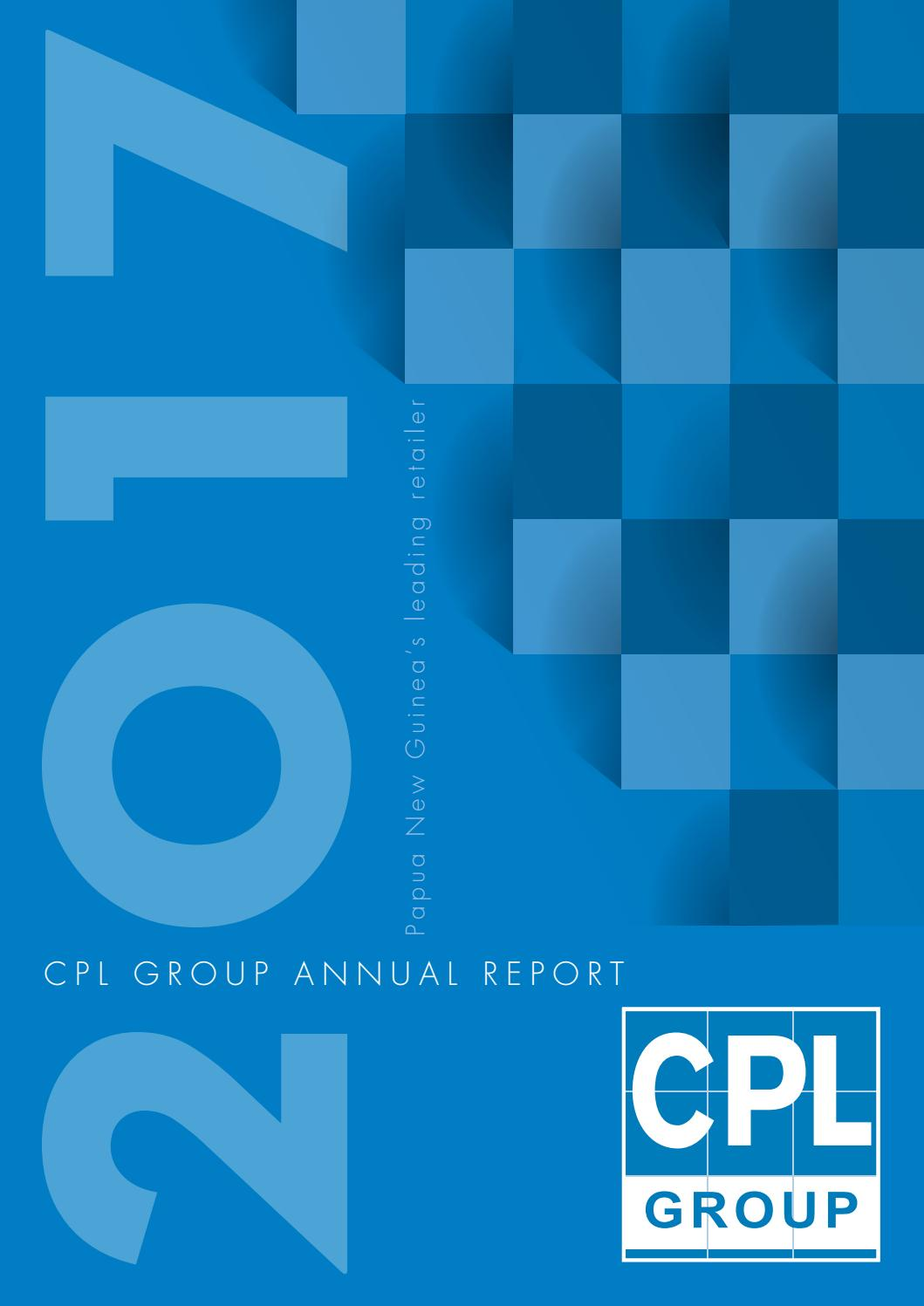 CPL Group Annual Report 2017 by Business Advantage International.