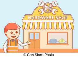 Hardware shop Vector Clip Art Illustrations. 450 Hardware shop.