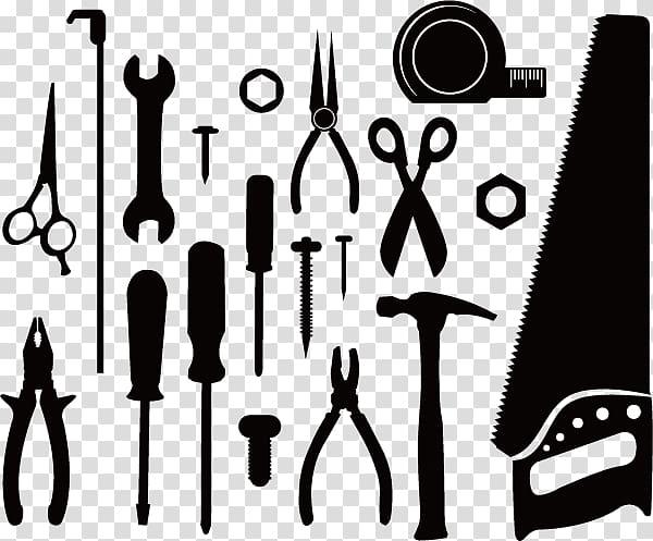 Handheld tool illustration, Tool, Hardware Tools Silhouette.