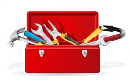 Hardware Tools Workshop Screwdriver Wrench clip art Vector.
