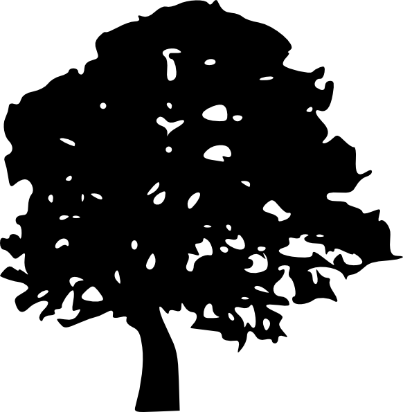 Oak Tree Silhouette.