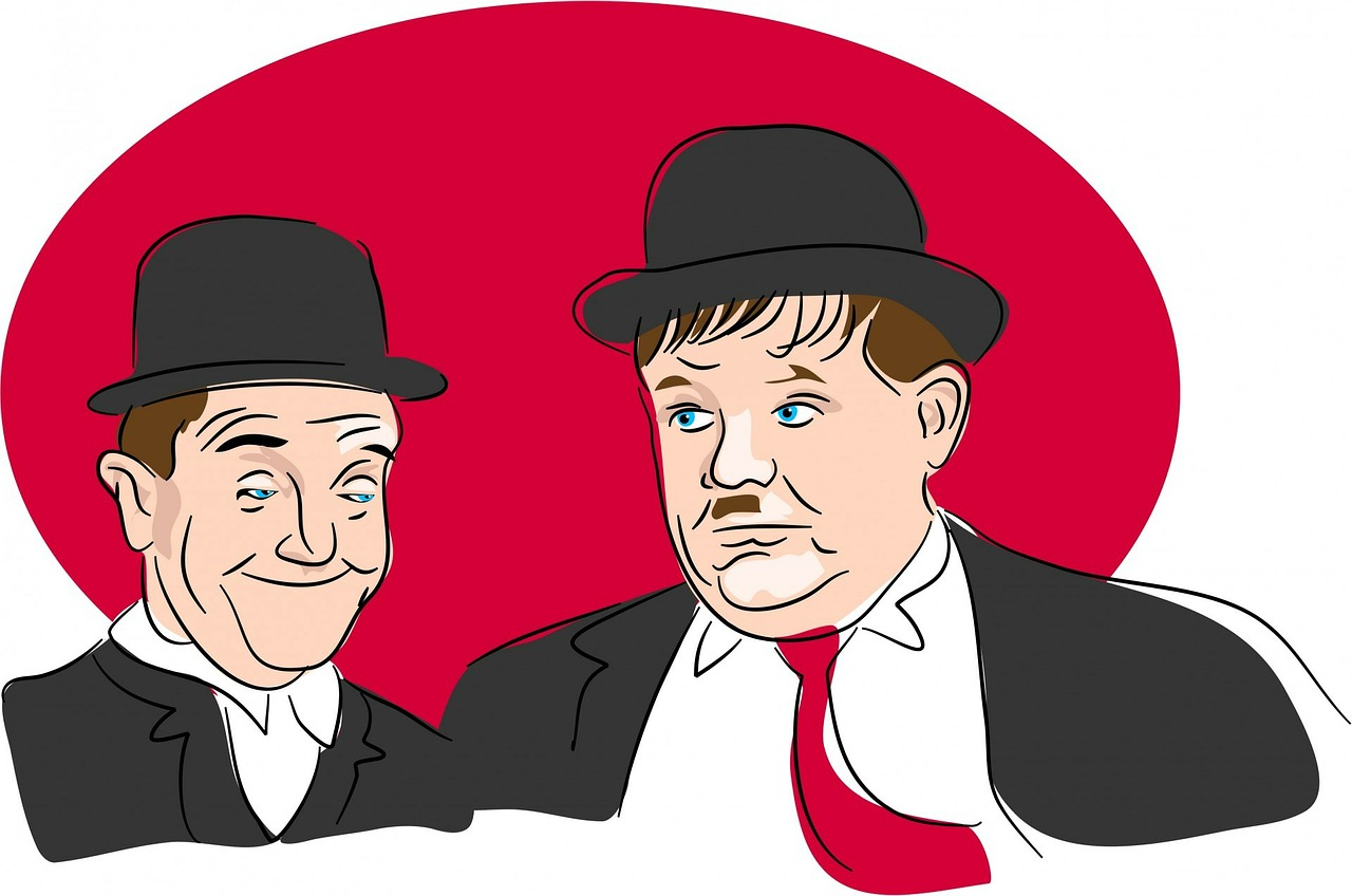 Laurel and hardy clipart.