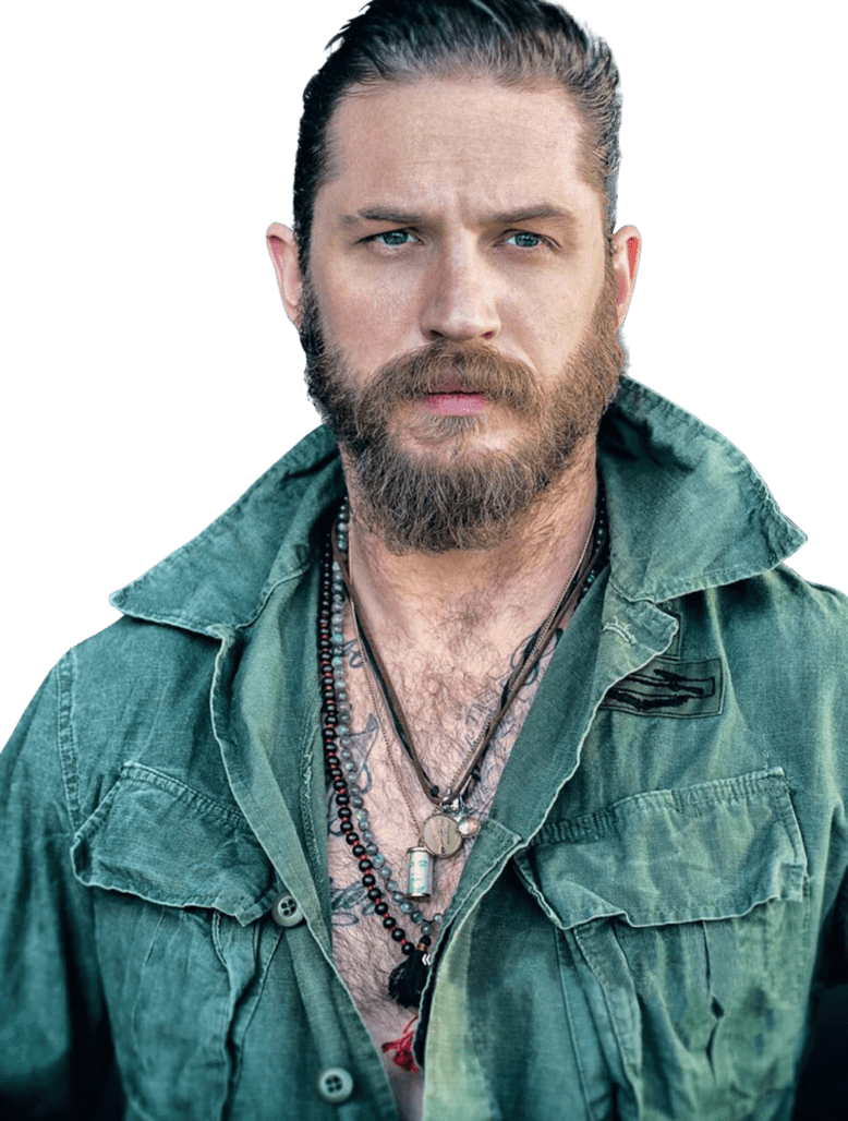 Tom Hardy Side View transparent PNG.
