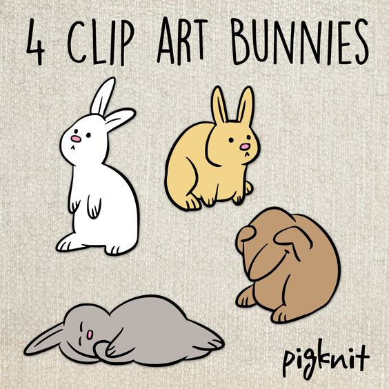 Bunny Clip Art, Rabbit Clip Art, Classroom Download, Bunny Graphic.