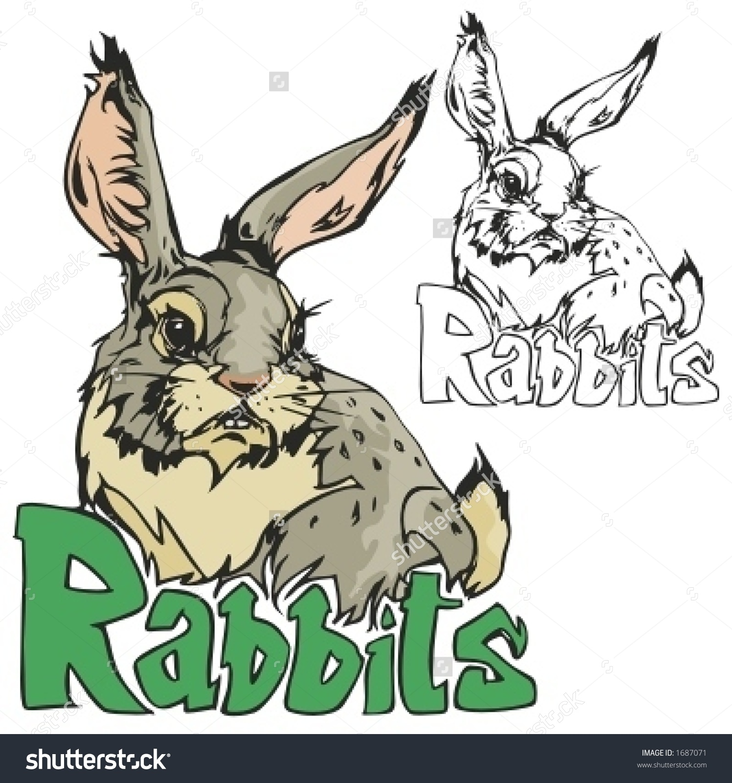 Rabbit Mascot For Sport Teams. Great For T.