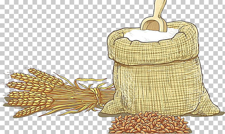 Wheat flour Cereal , Wheat hand drawing PNG clipart.