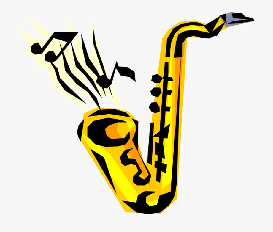 Vector Illustration Of Saxophone Brass Single.