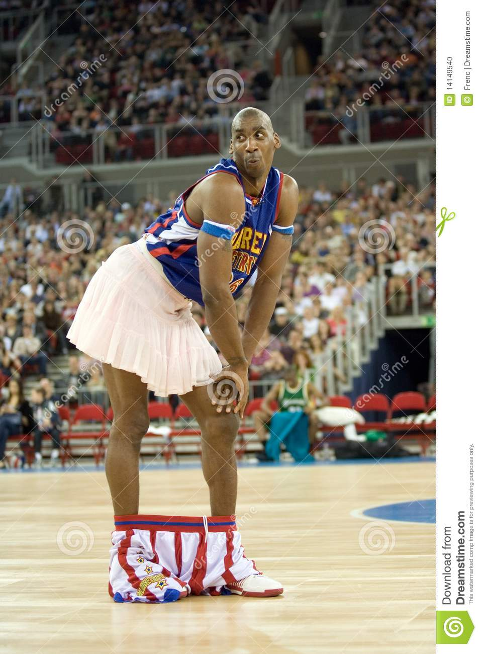 Harlem Globetrotters Basketball Team In An Exhibit Editorial Image.