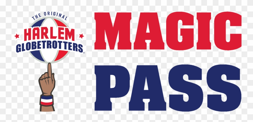 Harlem Globetrotters Magic Pass Clipart (#552892).