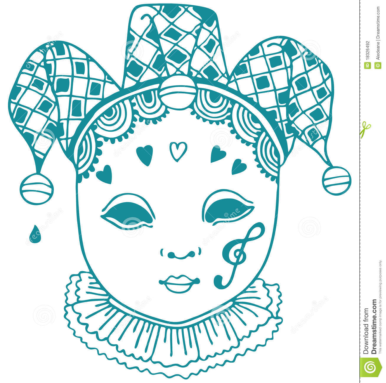 Harlequin teal clipart.
