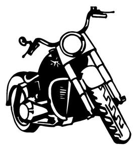 Harley Davidson Girl And Bike Clipart.