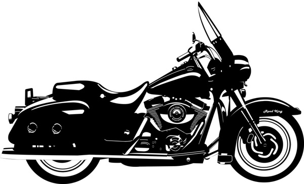 Harley Davidson Motorcycle Vector at GetDrawings.com.
