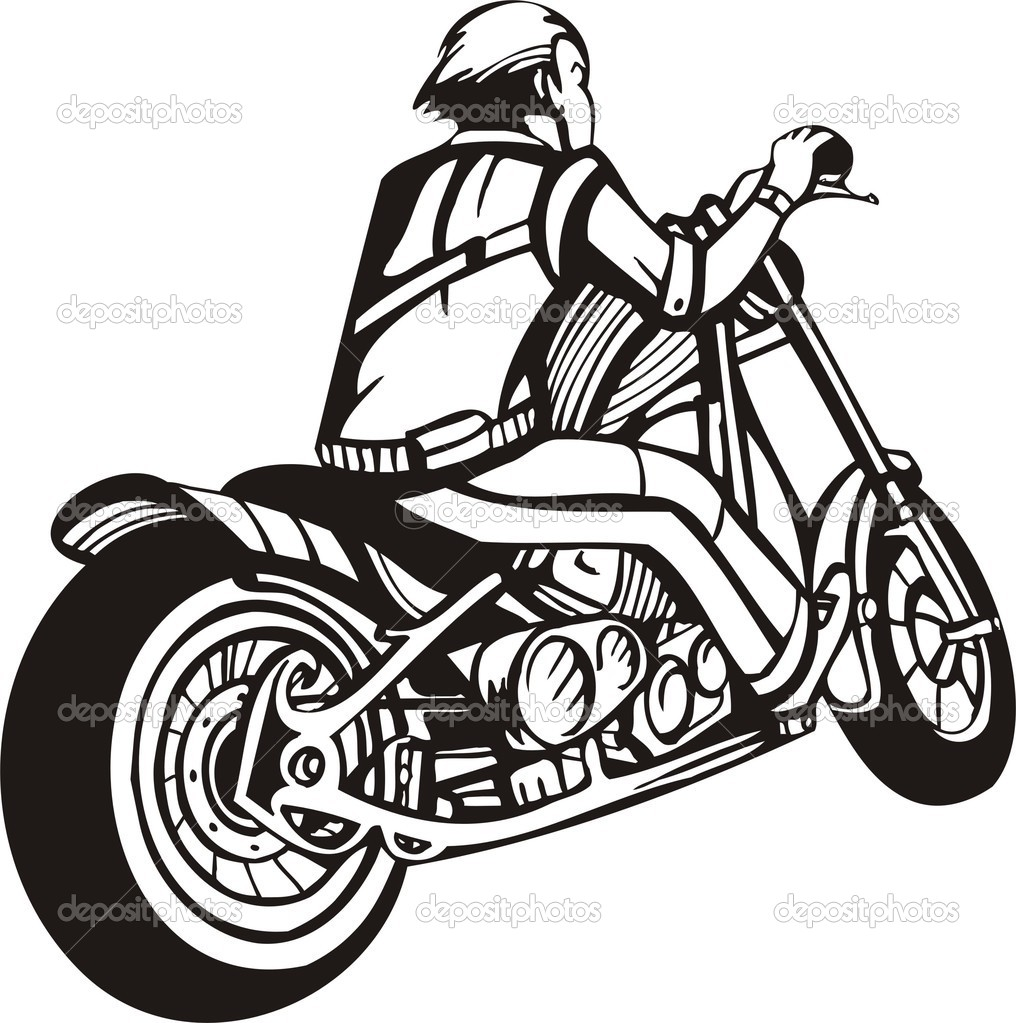 Harley Motorcycle Clipart.