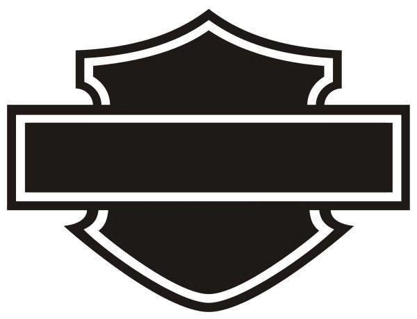 Harley Davidson Outline Bar Shield Logo Ride Mod Bell 400 X.