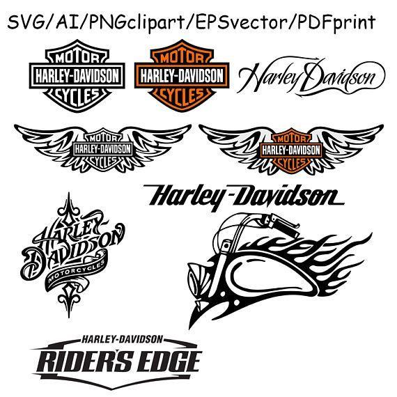 Harley Davidson Logo SVG Harley Davidson Clipart Cut File.